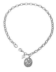 【送料無料】ネックレス クリップクランプペンダントシルバーguess collier collier avec pendentif ubn41001 argent