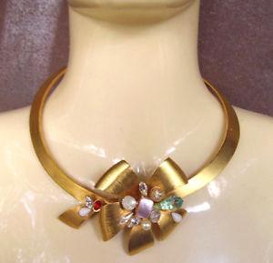 【送料無料】ネックレス ブロンズクランプドールカボションwg157  collier bronze dore et cabochons