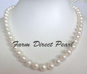 【送料無料】ネックレス ホワイトパールネックレス457cm vritable 910mm perle blanche collier guirlande culture deau douce