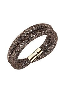 【送料無料】ネックレス スワロフスキーブレスレットブラウンオリジナルbracciale swarovski sturdust donna bracelet brown 5184846 40cm marrone originale