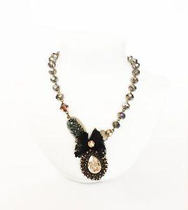 【送料無料】ネックレス アートsodini  collana girocollo con cristalli e pendente lavorato ambra art 290407