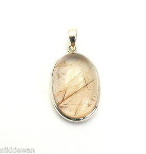 【送料無料】ネックレス スターリングリゾーツスターリングシルバーゴールドクォーツルチルargent sterling en or rutile quartz bijoux pendentif 3203