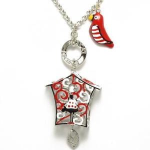 【送料無料】ネックレス シルバーロッサビアンカπle carose collana piro piro gabbietta silver rossa bianca pi7