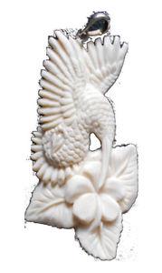 【送料無料】ネックレス チェーンスターリングシルバーchaine pendentif os blanc oiseaux 7cm argent sterling lio447
