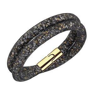 【送料無料】ネックレス スワロフスキーブレスレットネロロbracciale swarovski sturdust donna bracelet nero oro 5184180 38cm originale