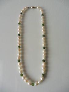 【送料無料】ネックレス クリップシルバーbelle,antique perles pour collier __ avec argent 925 schliee__vraies et jade