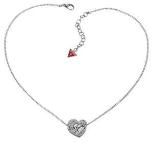 【送料無料】ネックレス クリップクランプペンダントシルバーguess collier collier avec pendentif ubn21101 argent