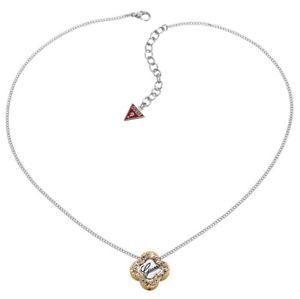 【送料無料】ネックレス クリップクランプペンダントシルバーguess collier collier avec pendentif ubn21102 argent