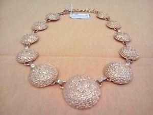 【送料無料】ネックレス フィレンツェジュエリーララcollana girocollo fanara of florence bijoux metallo dorato vintage anni 80 rara
