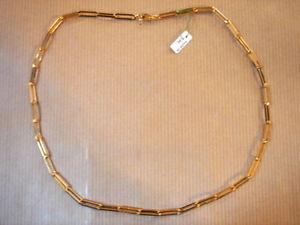 【送料無料】ネックレス チェーンゴールドプレートビンテージゴールドメッキチェーンメッシュchaine plaque or maille medium long 50 cm 18g vintage neuf gold plated chain