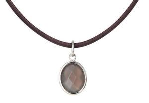 【送料無料】ネックレス クランプステンレススチールxenox collier femmes x2317 acier inox, cuir agate