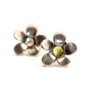 【送料無料】ネックレス イヤリングシルバーアルジェントauthentic trollbead earrings silver flower tagea00058 orecchini fiori dargento