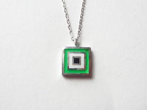 【送料無料】ネックレス スターリングシルバーネックレストルコturque bijoux en argent sterling 925 email vert carr mauvais oeil collier