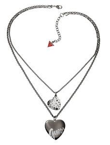 【送料無料】ネックレス クランプguess collier collier ubn81040 anthracite