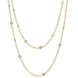 【送料無料】ネックレス collana in ottone donna liu jo lj774 pvd oro 2 filamenti logato 111 cm