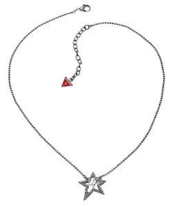 【送料無料】ネックレス クリップクランプペンダントシルバーguess collier collier avec pendentif ubn80106 argent