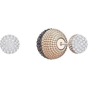 【送料無料】ネックレス スワロフスキーピアスロサレトロorecchini swarovski lollypop 5382321 earrings oro rosa cristalli fronte retro