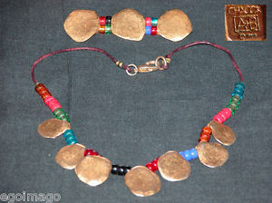 【送料無料】ネックレス ネックレスビンテージjoli collier barette signs chacok ab 1991  vintage