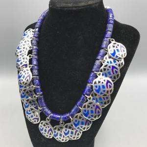 【送料無料】ネックレス ハンドメイドガラスビーズネックレスパーティションhandmade cloisonn pendentif amp; perle en verre collier
