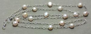 【送料無料】ネックレス アルジェントアンブラスカテナreggiocchiali perle e ambra su catena in argento 925