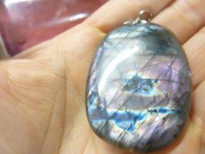 【送料無料】ネックレス ペンダントケースpendentif protection labradorite violet trs rare ref 1864