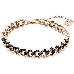 【送料無料】ネックレス カテナスワロフスキーレーンロサドナブレスレットbracciale a catena swarovski lane oro rosa donna bracelet 5414993 cristalli neri
