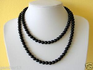 【送料無料】ネックレス オニキスダブルガーランドクランプオニキスビーズストランドマルチ8mm onyx noir double collier guirlande 8 mm onyx noir perles multi brins