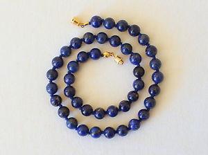 【送料無料】ネックレス ラピスラズリネックレスミリラピスグレードnaturel 8 mm lapis lazuli collier 8mm lapis longueurs varies nou grade a