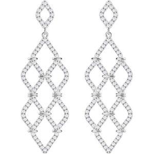 【送料無料】ネックレス スワロフスキーレースビアンコドナイヤリングorecchini swarovski lace pendenti bianco donna 5382358 earrings eleganti