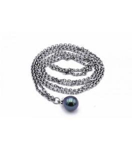 【送料無料】ネックレス アルジェントコンペルラヌオーヴォtrollbeads collana dargento con perla pavone 80cm tagfa00058 3 nuovo