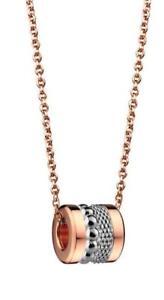 【送料無料】ネックレス ベーリングネックレスステンレススチールピンクメッシュセットbering collier amp; charm pendentif acier inox ip rose mesh set 31
