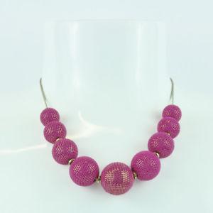 【送料無料】ネックレス パールピンクドーナsodini  collana perle lavorate fuchsia 780131y donna