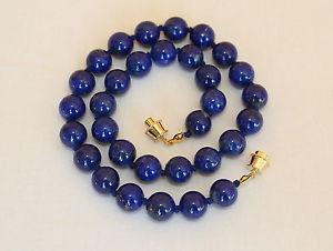 【送料無料】ネックレス ラピスラズリネックレスミリラピスビーズnaturel lapis lazuli collier 10mm lapis longueurs varies grade a 10 mm perles