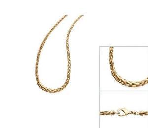 【送料無料】ネックレス チェーンネックレスメッキパームメッシュ collier chaine plaqu or 45cm maille palmier neuf bijouteriejolybijoux