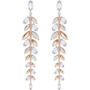 【送料無料】ネックレス スワロフスキーオロローザイヤリングorecchini swarovski mayfly pendenti oro rosa 5410410 earrings lunghi foglie