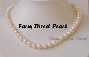【送料無料】ネックレス ホワイトパールネックレス914cm long 89mm rond perle blanche collier guirlande culture deau douce