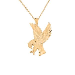 【送料無料】ネックレス ソリッドkゴールドイエローゴールドアメリカンイーグルネックレスsolide 14k or jaune american eagle collier