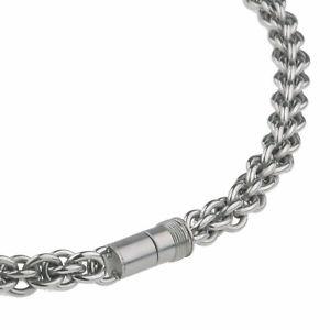 【送料無料】ネックレス ステンレスクランプernstes design collier en acier inox 45 cm avec fermeture magntique k 122