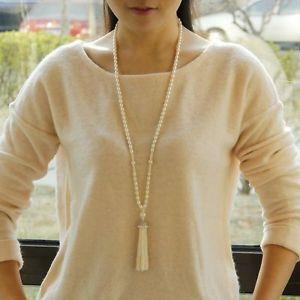 【送料無料】ネックレス タッセルクラスネックレスcollier sautoir perle de culture deau douce tassel class argent massive 925 tz