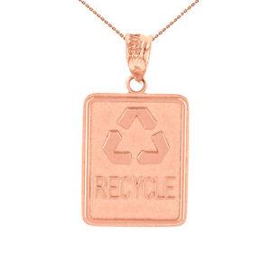【送料無料】ネックレス ソリッドkピンクゴールドリサイクルリサイクルクランプパネルsolide 14k or rose environnement recyclage dchets recyclage panneau collier