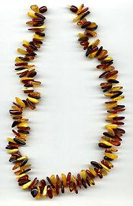 【送料無料】ネックレス オレンジネックレスambre ptale forme perles collier 626a 508cm long