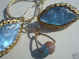 【送料無料】ネックレス ゴールドチェーンイヤリングペンダントbeau pendentif ancien en or 18 k et saphiretchaine vermeilboucles doreilles
