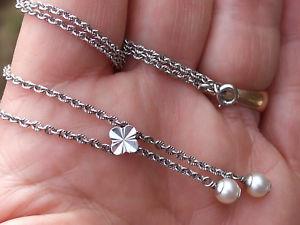 【送料無料】ネックレス ネックレスkホワイトゴールドパールbeau collier neglige ancien en or blanc 18k 750 avec perle de culture 37,5cm