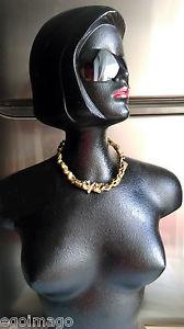 ネックレス ブロンズトルクアーティストクランプbrutaliste collier ras du cou torque travail dartiste vers 1970 en bronze dor