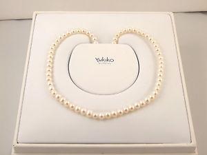 【送料無料】ネックレス ネックレスホワイトゴールドカバーcollier de perles cultiv yukiko et de fermeture en en or blanc 18 kt