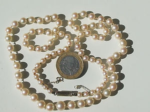 【送料無料】ネックレス クリップホワイトゴールドクラスプbeau et grand collier ancien avec perle de culture et fermoir en or blanc 18k