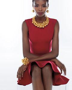 【送料無料】ネックレス オスカーデラビーズゴールドイエローゴールドnouveau oscar de la renta pais perl collier col or jaune perles