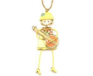 【送料無料】ネックレス ペンダントネックレスsp749e sautoir collier pendentif poupe articule femme robe mtal peint ja