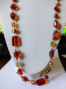 【送料無料】ネックレス クリスタルビーズビンテージsautoir vintage en perles de cristal