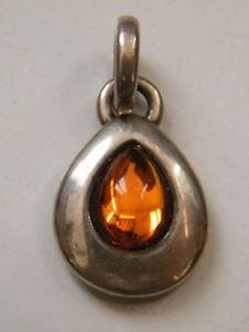 【送料無料】ネックレス ペンダントシルバージュエルアガサpendentif bijou argent agatha avec rsine orange en poire,n892